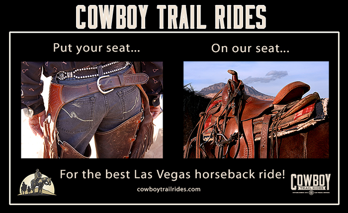 Poster for Cowboy Trail Rides promoting Horseback Riding in Las Vegas